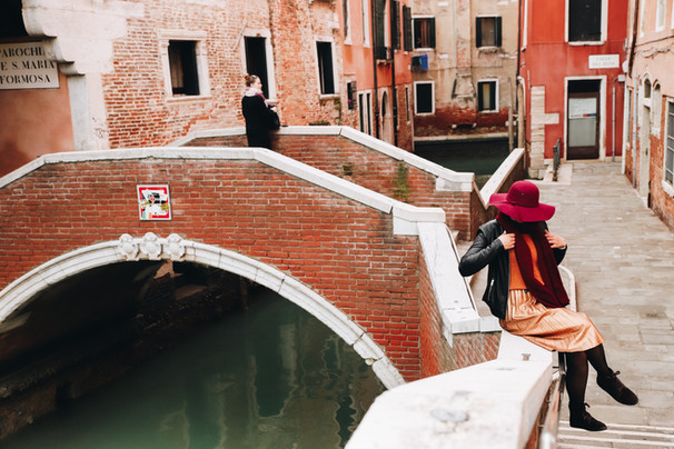 by the canals