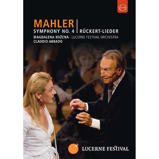 馬勒:第四號交響曲&呂克特之歌~阿巴多指揮琉森節慶管弦樂團 (DVD)【EuroArts】