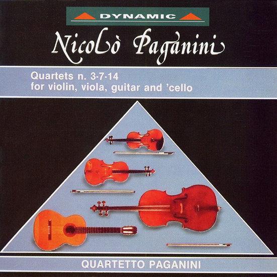 帕格尼尼:吉他四重奏2 Nicolo Paganini: Complete Quartets (Vol.2) (CD)【Dynamic】