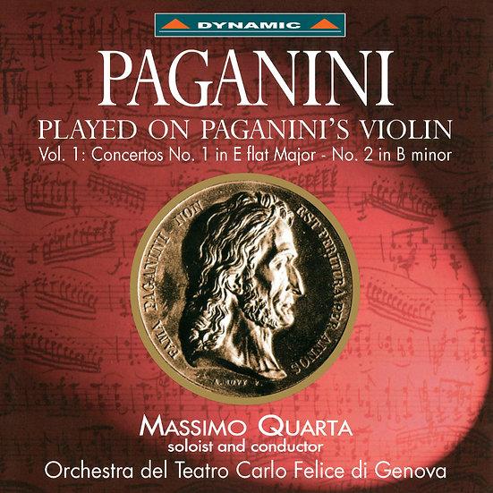 帕格尼尼:寡婦加農砲 Nicolò Paganini: Concertos 1 & 2 - Massimo Quarta (CD)【Dynamic】