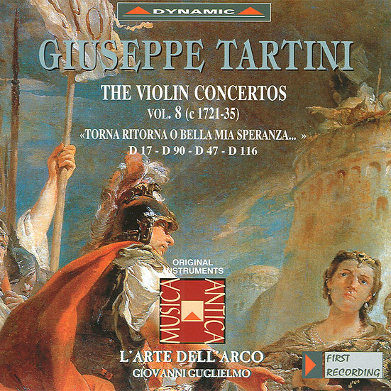 流浪小提琴家塔替尼:小提琴協奏曲全集8 Tartini: The Violin Concertos Volume 8 (CD)【Dynamic】