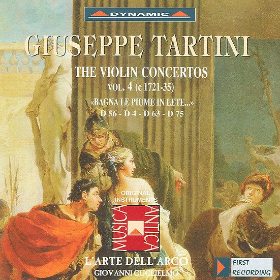 流浪小提琴家塔替尼:小提琴協奏曲全集4 Tartini: The Violin Concertos Volume 4 (CD)【Dynamic】