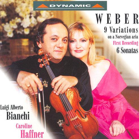 韋伯:小提琴奏鳴曲與變奏曲 (CD)【Dynamic】