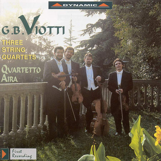維歐提:第一、二、三號弦樂四重奏 G. Battista Viotti: String Quartets Nos. 1-3 (CD)【Dynamic】