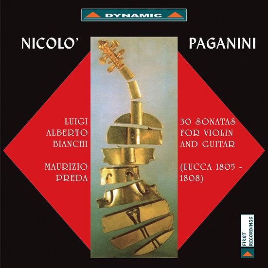 帕格尼尼:小提琴與吉他奏鳴曲1  (2CD)【Dynamic】