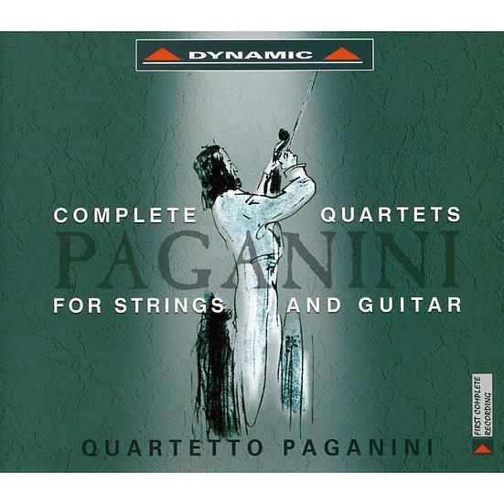 帕格尼尼:吉他四重奏1~4  (5CD)【Dynamic】