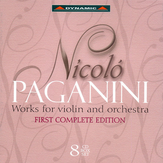 帕格尼尼:小提琴與管弦樂作品大全集 Nicolo Paganini: Works for violin and orchestra (8CD)【Dynamic】
