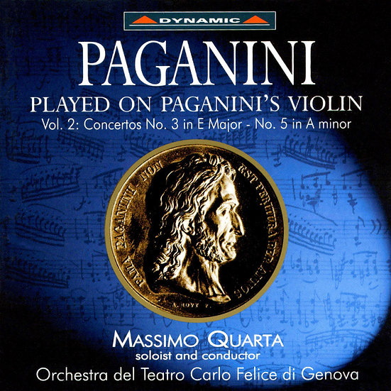 帕格尼尼:寡婦加農砲2 Paganini: Complete Violin Concertos (Vol. 2) (CD)【Dynamic】