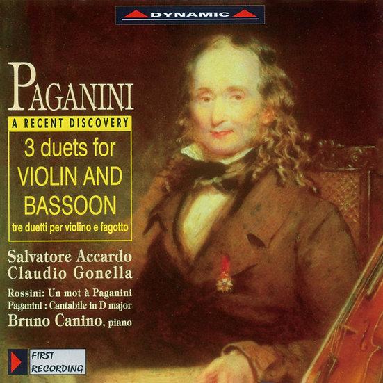 大象與小蜜蜂 帕格尼尼:三首為小提琴與巴松管作的二重奏  (CD)【Dynamic】
