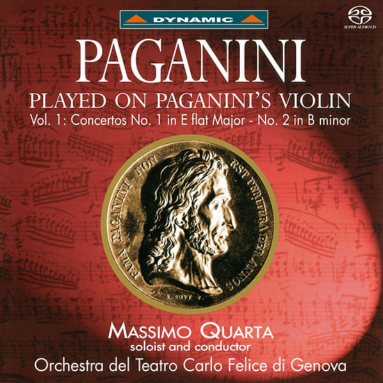 帕格尼尼:寡婦加農砲 Nicolò Paganini: Concertos 1 & 2 - Massimo Quarta (SACD)【Dynamic】
