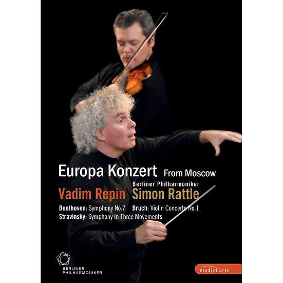 2008歐洲音樂會 柏林愛樂重返莫斯科 Rattle conducts Beethoven, Stravinsky & Bruch (DVD) 【EuroArt