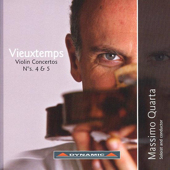 魏歐當:第四、五號小提琴協奏曲 Vieuxtemps: Violin Concertos Nos. 4 & 5 (CD)【Dynamic】