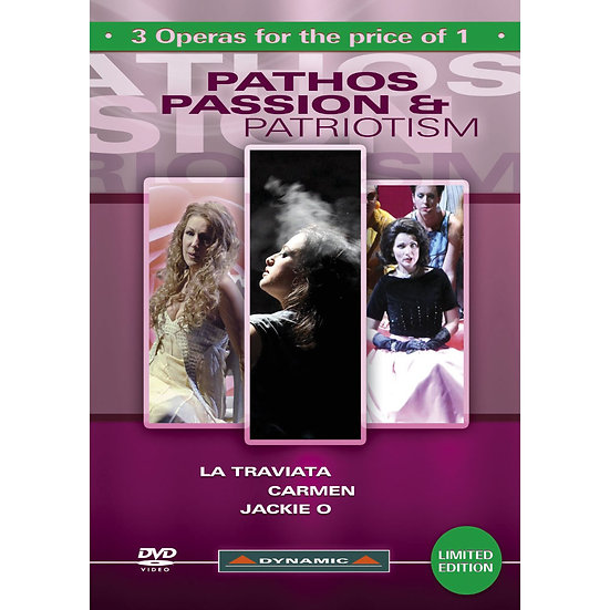 Dynamic歌劇嚴選精選:悲愴、激情與愛國主義 Pathos, Passion & Patriotism 3 DVD Box (3DVD)【Dynamic】
