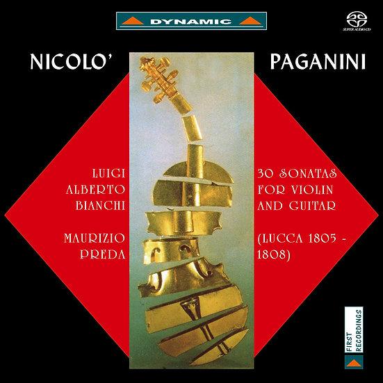 帕格尼尼:小提琴與吉他奏鳴曲1 (2SACD)【Dynamic】