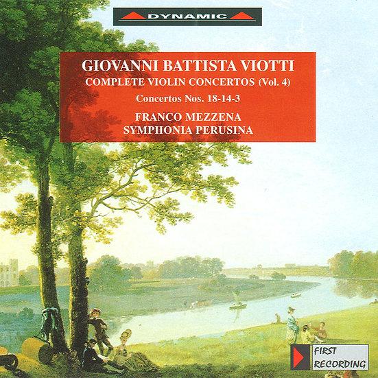 大師的禮讚 – 維歐提小提琴協奏曲全集4 (CD)【Dynamic】