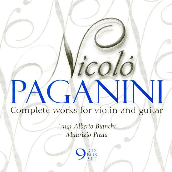 魔鬼的情歌 帕格尼尼:小提琴與吉他作品大全集 (9CD)【Dynamic】