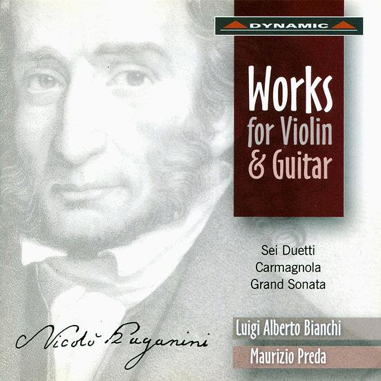 帕格尼尼:魔鬼的吉他情結III Paganini: Works For Violin And Guitar (CD)【Dynamic】