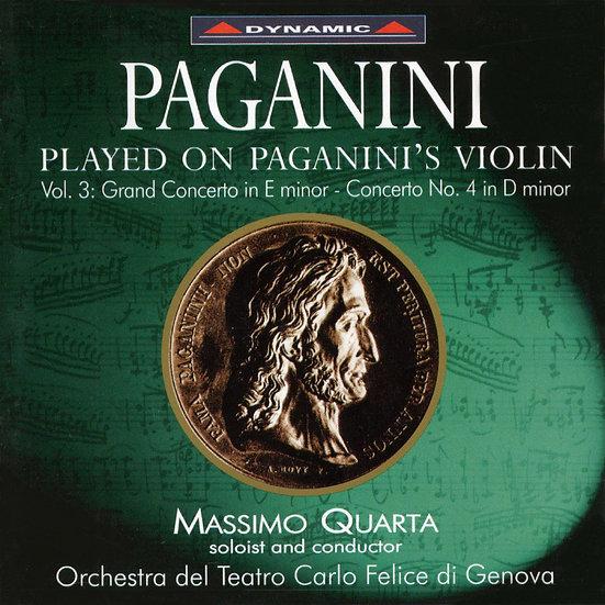 帕格尼尼:寡婦加農砲3 Paganini: Violin Concertos (Vol. 3) (CD)【Dynamic】