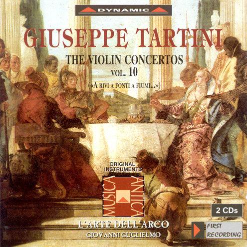 流浪小提琴家塔替尼:小提琴協奏曲全集10 Tartini: The Violin Concertos Volume 10 (2CD)【Dynamic】