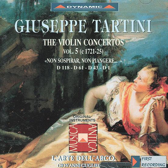 流浪小提琴家塔替尼:小提琴協奏曲全集5 Tartini: The Violin Concertos Volume 5 (CD)【Dynamic】