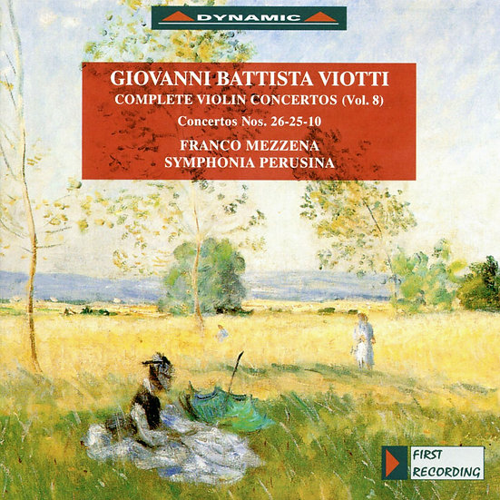 大師的禮讚 – 維歐提小提琴協奏曲全集8 (Vol.8) (CD)【Dynamic】