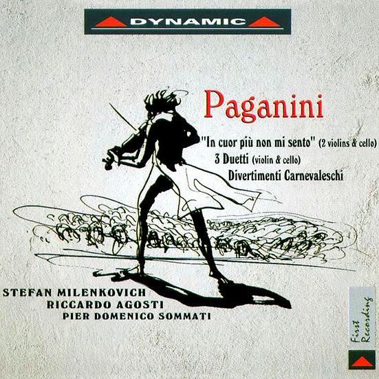 你的心裡沒有我~帕格尼尼:美妙的小提琴與大提琴三重奏 (CD)【Dynamic】