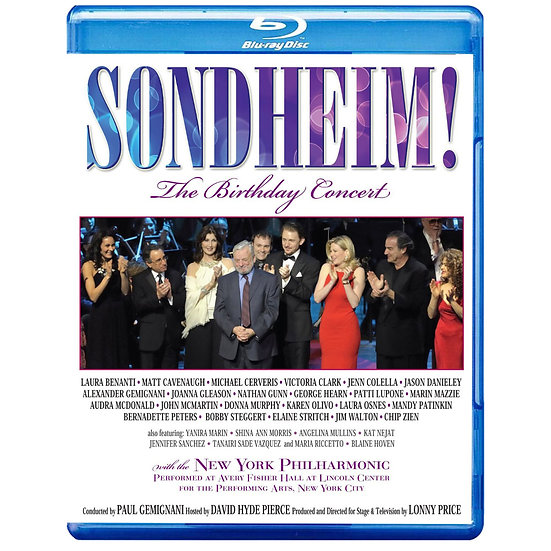 群星歡慶史蒂芬.桑德海姆生日音樂會 V.A.: Sondheim - The Birthday Concert (藍光Blu-ray) 【Evosound】