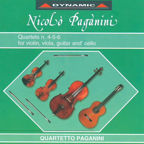 帕格尼尼:吉他四重奏4 Nicolo Paganini: Complete Quartets (Vol.4) (CD)【Dynamic】