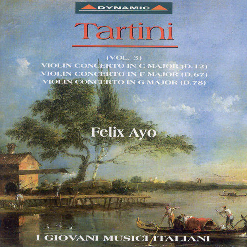 塔替尼:小提琴協奏曲 第三集 Giuseppe Tartini: Violin concertos (Vol. 3) (CD)【Dynamic】