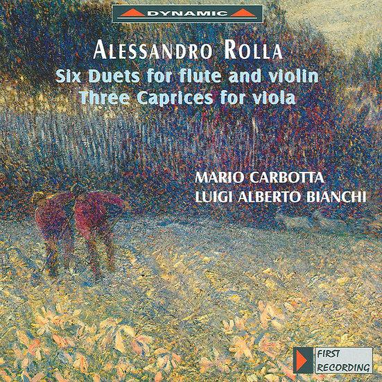羅亞:長笛與小提琴二重奏、中提琴隨想曲 (CD)【Dynamic】