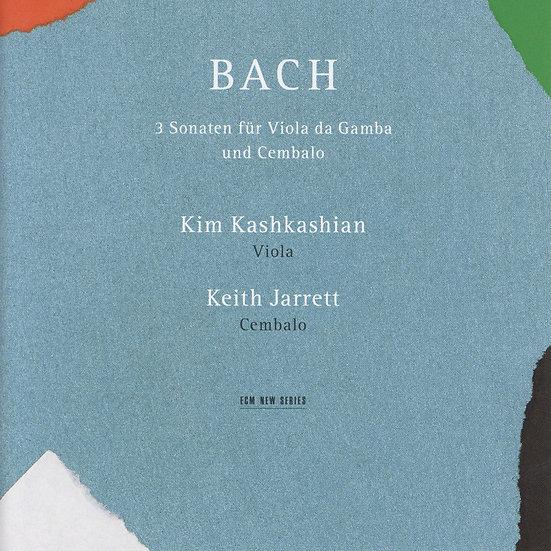巴哈:三首古大提琴與大鍵琴奏鳴曲|奇斯.傑瑞特/金.卡許卡湘 (CD) 【ECM】