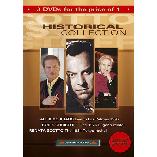 Dynamic歌劇嚴選精選:經典演唱會 Historical Collection 3 DVD Box (3DVD)【Dynamic】
