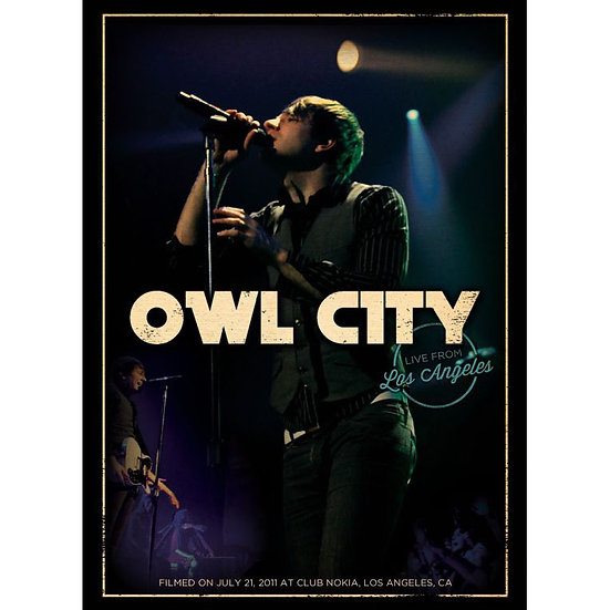 貓頭鷹城市:洛杉磯演唱會 Owl City: Live From Los Angeles (DVD) 【Evosound】
