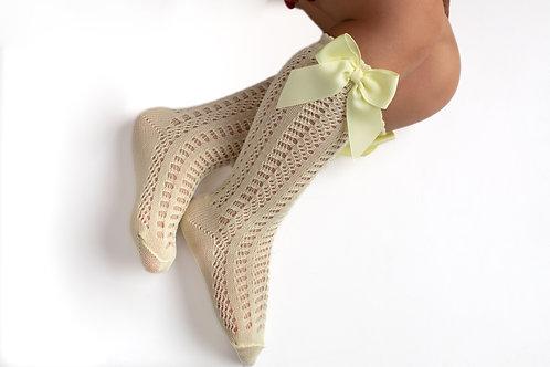 Meia Crochet e Laço Gorgorão