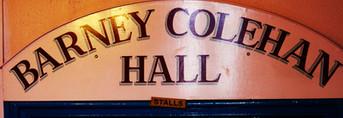 Barney Colehan Hall sign