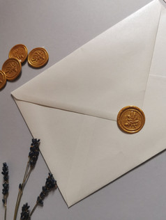 Gold foliage wax seals