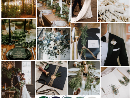 Winter Wedding Luxe: Forest Green & Navy