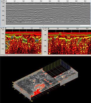 Ground Penetrating Radar Survey GPR 3D 3D GPR