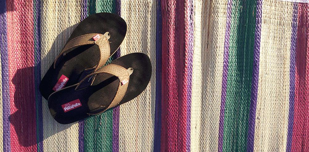 My sandals...