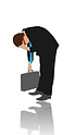 An icon of a business man hunched over with a briefcase