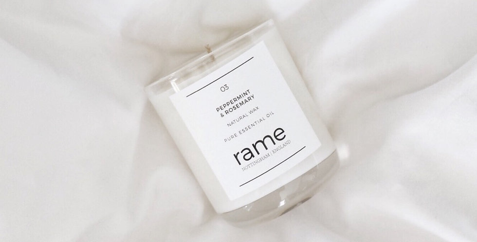 03 PEPPERMINT & ROSEMARY CLASSIC CANDLE
