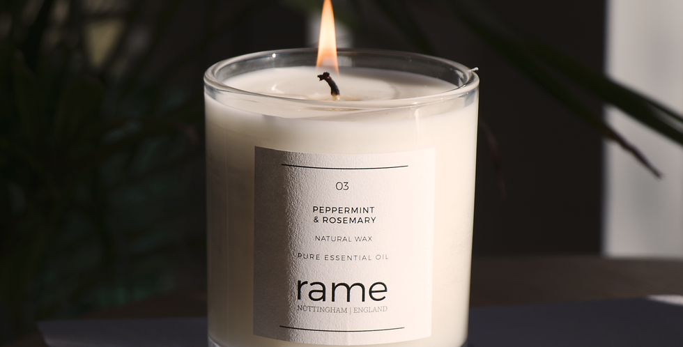 03 PEPPERMINT & ROSEMARY LARGE CANDLE