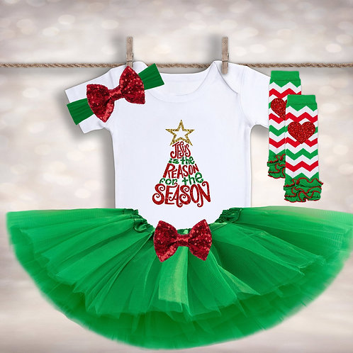 Baby Girl's Christmas Photo Outfit