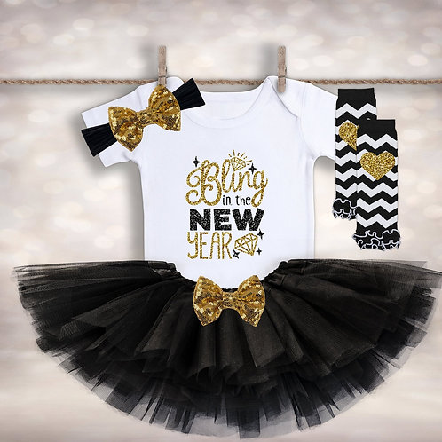 Baby Girl's Bling in the New Year Outfit