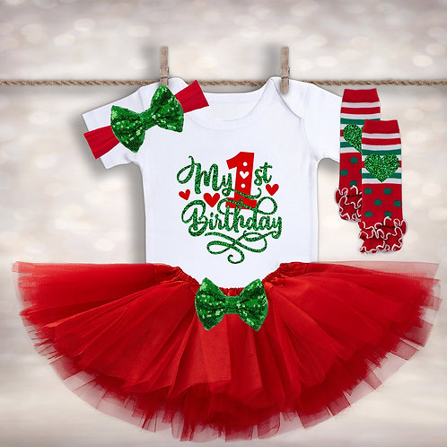 Christmas Birthday Tutu