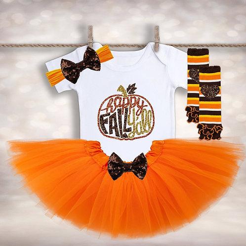 Fall Pumpkin Tutu Outfit