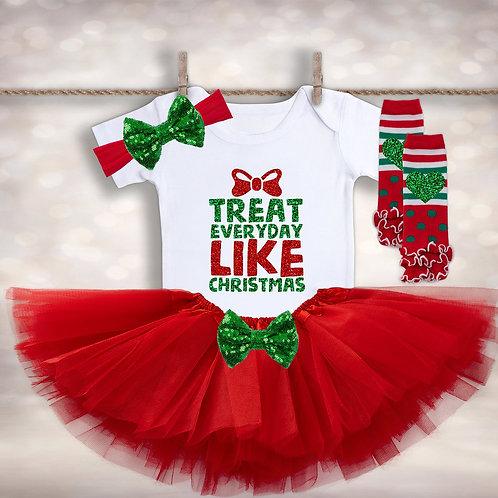 Treat Everyday Like Christmas Tutu Outfit
