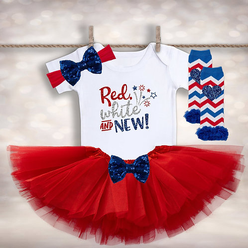 Red White & New Baby Outfit