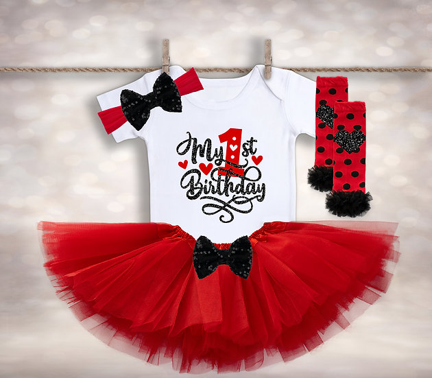 My First Birthday - Red&Black