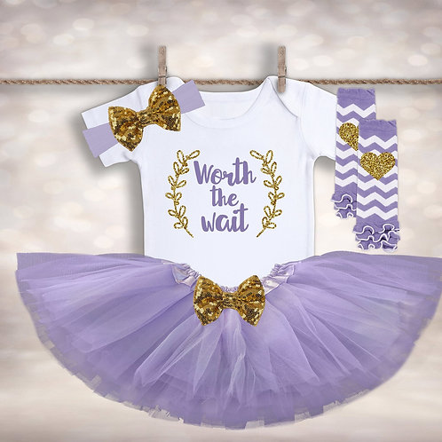 Worth the Wait Tutu Outfit